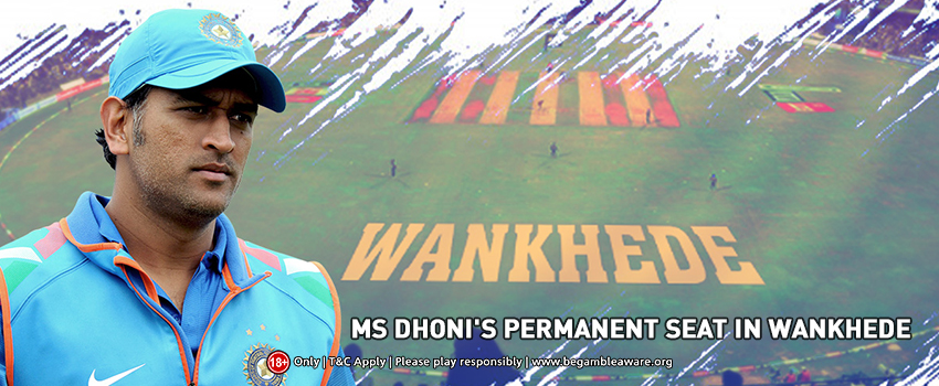 A Permanent Seat to MS Dhoni At the Iconic Wankhede Stadium