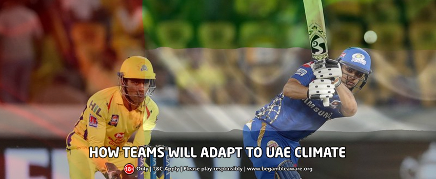 How will IPL teams adapt to the playing conditions in the UAE?